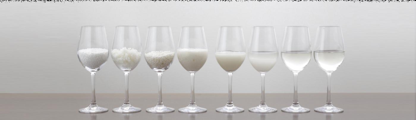 Copas Proceso del sake