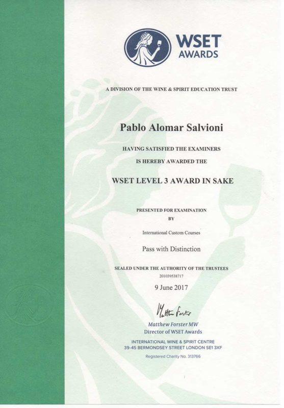 WSET Level 3 diploma